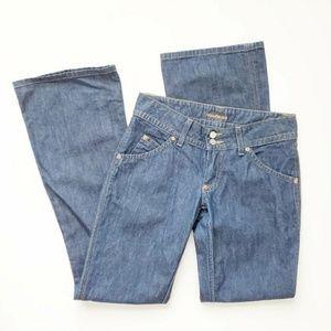 Hudson Wide Leg Flare Signature Medium Wash Jeans
